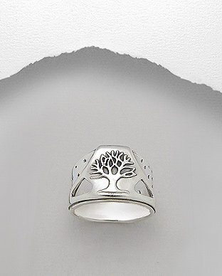 706-15361 - 925 Sterling Silver Tree Of Life Ring