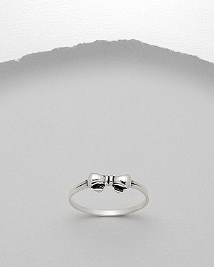 706-15454 - 925 Sterling Silver Bow Ring