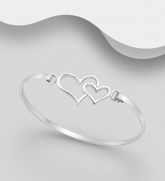 706-16640 - 925 Sterling Silver Heart Bangle