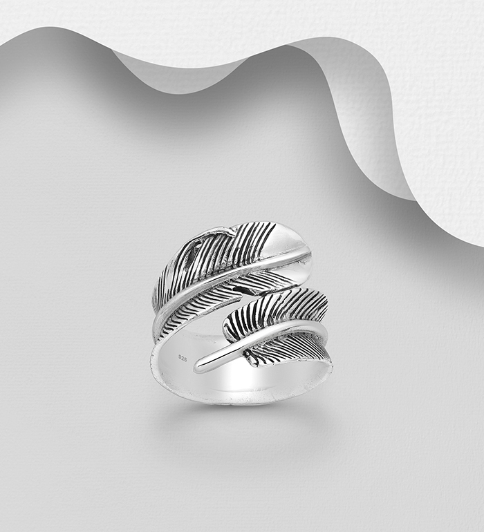 706-17907 - 925 Sterling Silver Feather Ring