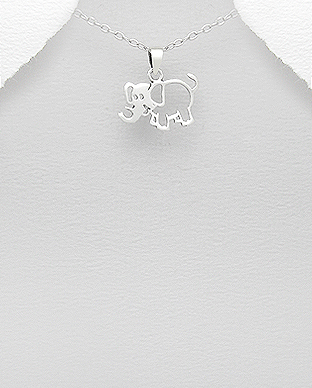 706-18147 - 925 Sterling Silver Elephant Pendant