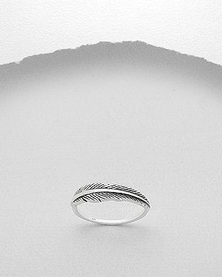 706-18428 - 925 Sterling Silver Feather Ring