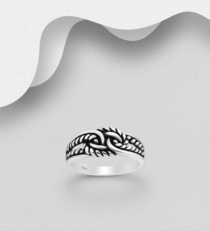 1063-820 - 925 Sterling Silver Knot Ring
