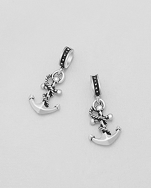 1559-35 - 925 Sterling Silver Anchor Bead-Charm