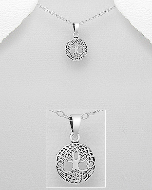 706-18868 - 925 Sterling Silver Tree Of Life Pendant