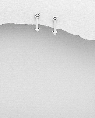 706-18896 - 925 Sterling Silver Arrow Earrings