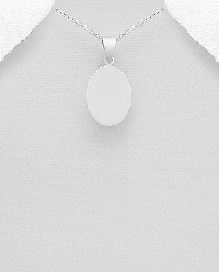 706-18958 - 925 Sterling Silver Tag Pendant