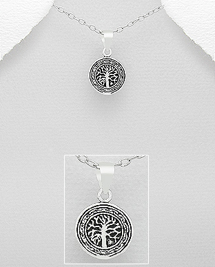 706-19095 - 925 Sterling Silver Tree Of Life Pendant