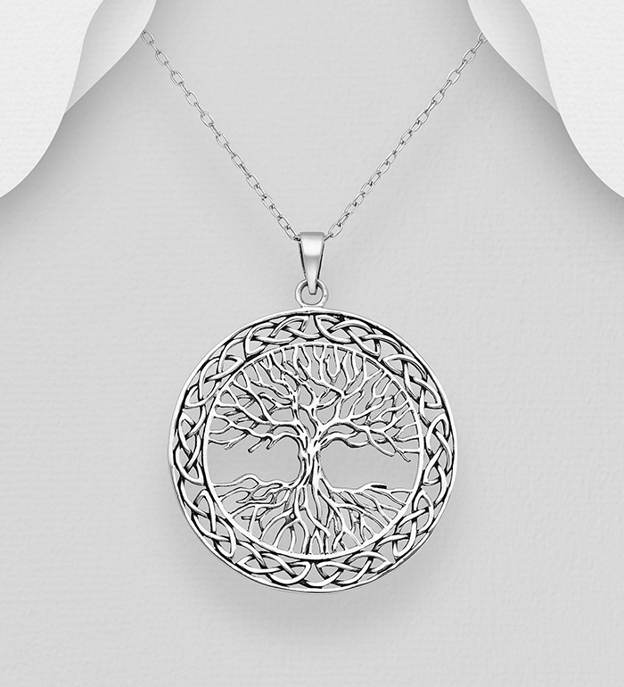 706-20026 - 925 Sterling Silver Celtic Tree Of Life Pendant