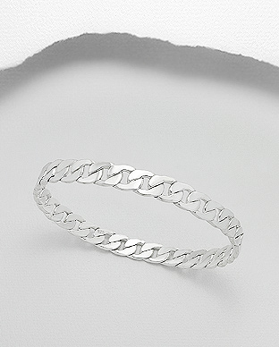 706-20218 - 925 Sterling Silver Links Bangle