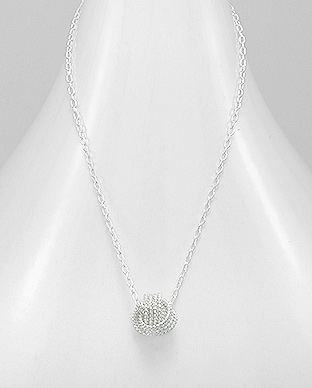 706-20958 - 925 Sterling Silver Ball Necklace