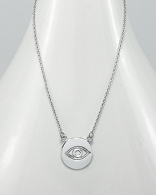 706-20996 - 925 Sterling Silver Eye Necklace