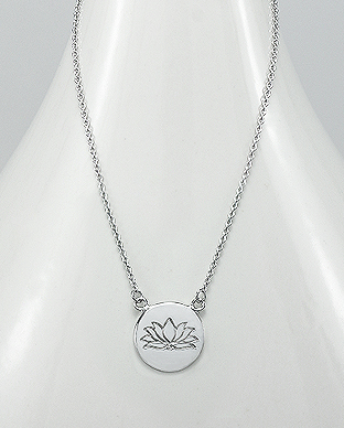 706-21001 - 925 Sterling Silver Lotus Necklace