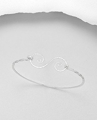 706-21053 - 925 Sterling Silver Bangle