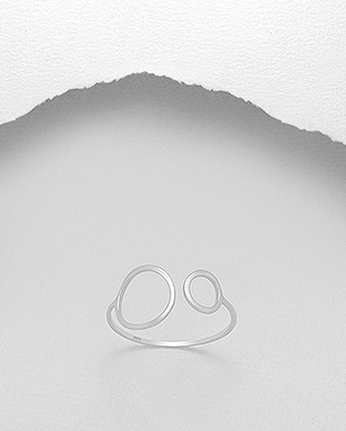 706-21068 - 925 Sterling Silver open Circles Ring