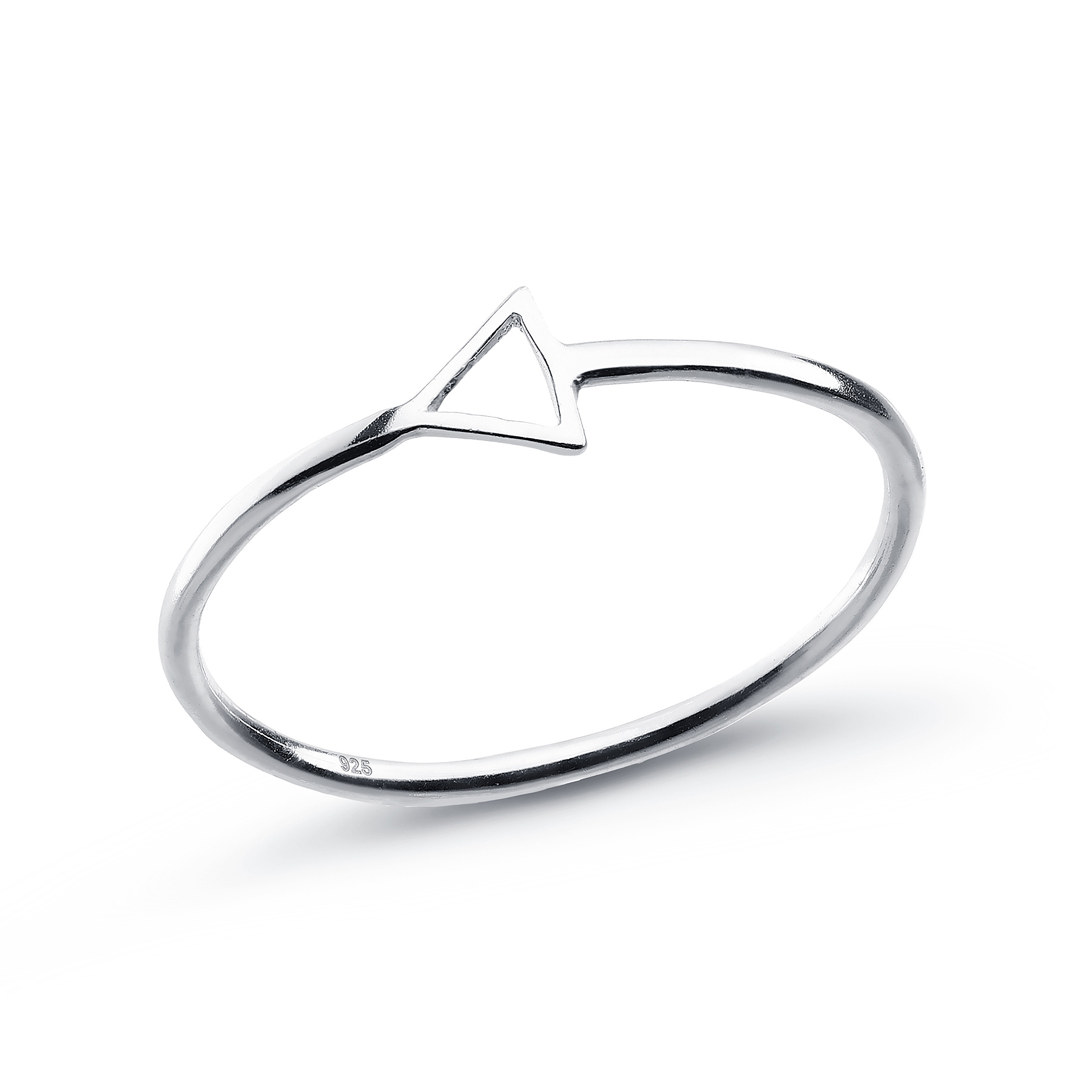 706-21707 - 925 Sterling Silver Triangle Ring