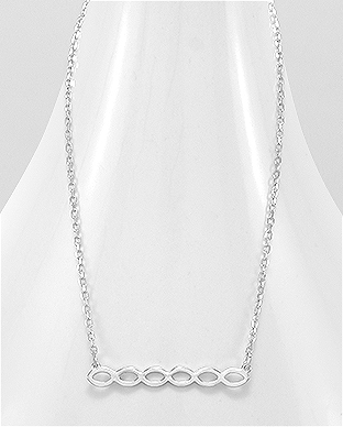 706-21835 - 925 Sterling Silver Oval Necklace