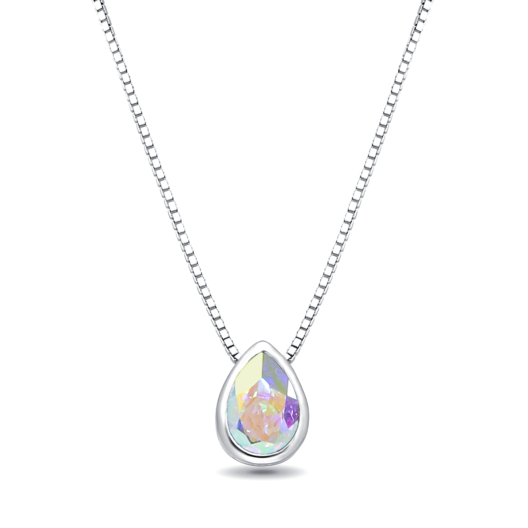 1583-193 - Sparkle by 7K - 925 Sterling Silver Necklace Decorated With Verifiable Authentic Swarovski Crystal