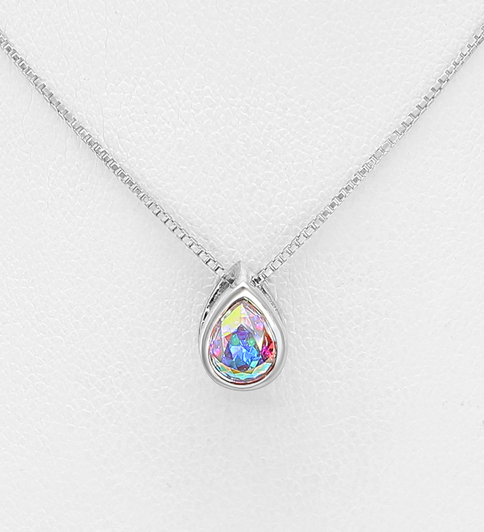 1583-193 - Sparkle by 7K - 925 Sterling Silver Necklace Decorated with Authentic Swarovski<sup>®</sup> Crystal