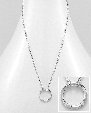 706-22629 - 925 Sterling Silver Circle Necklace