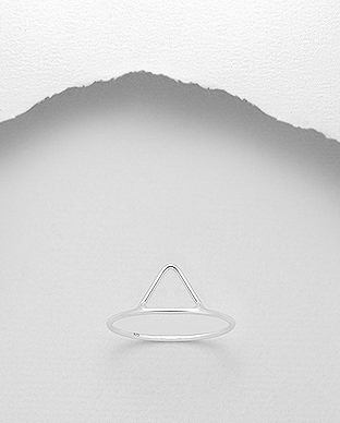 706-22631 - 925 Sterling Silver Triangle Ring
