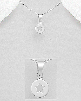 706-22682 - 925 Sterling Silver Star Pendant