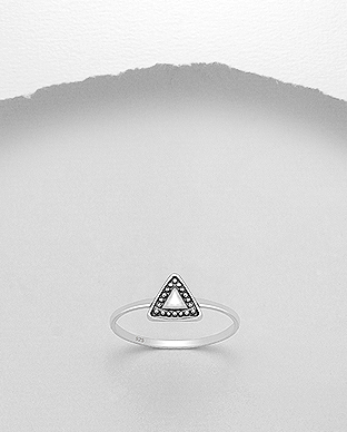 706-22735 - 925 Sterling Silver Triangle Ring