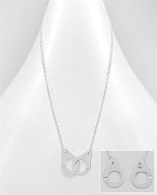 706-22749 - 925 Sterling Silver Handcuff Necklace