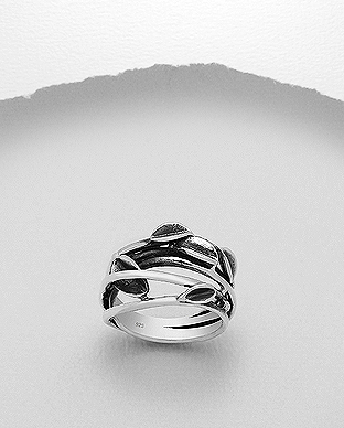 706-23129 - 925 Sterling Silver Leaf Ring