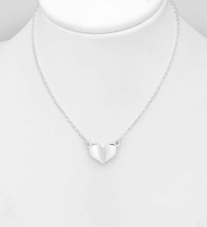 1063-1478 - 925 Sterling Silver Heart Necklace