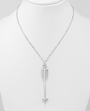 706-23863 - 925 Sterling Silver Arrow Necklace
