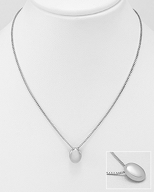 706-24003 - 925 Sterling Silver Oval Necklace