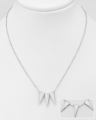 706-24010 - 925 Sterling Silver Triangle Necklace