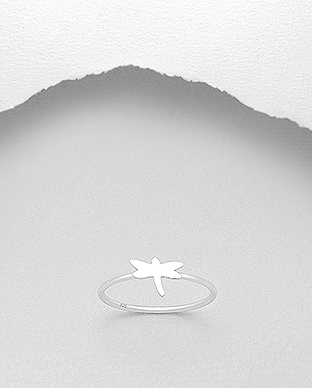 706-24176 - 925 Sterling Silver Dragonfly Ring