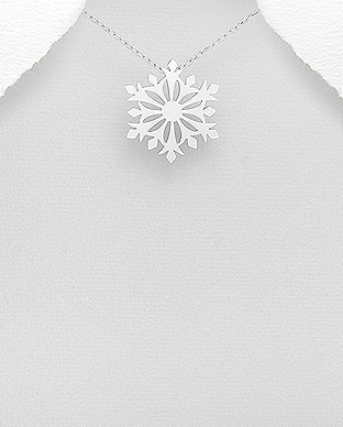 706-25103 - 925 Sterling Silver Snowflake Pendant