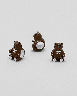 1559-233 - 925 Sterling Silver Bear Bead