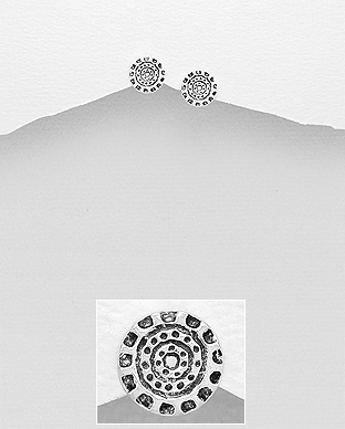 706-25138 - 925 Sterling Silver Oxidized Push-Back Earrings