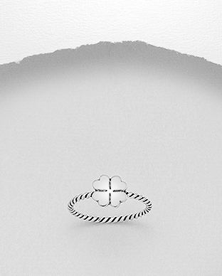 1076-132 - 925 Sterling Silver Clover Ring