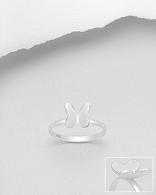 706-25493 - 925 Sterling Silver Butterfly Ring