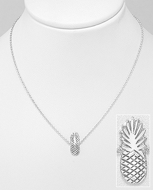 706-25890 - 925 Sterling Silver Pineapple Necklace
