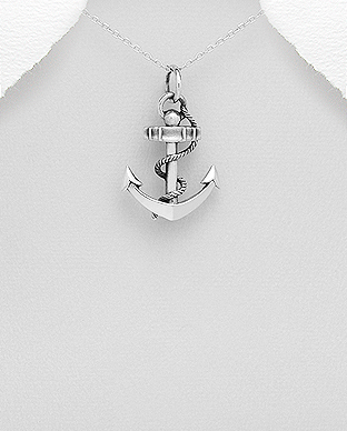 706-25914 - 925 Sterling Silver Anchor Pendant