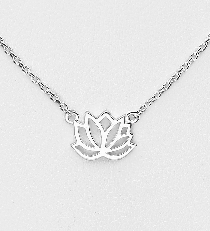 1063-1967 - 925 Sterling Silver Lotus Necklace