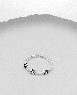 706-26091 - 925 Sterling Silver Ball Stretch Ring