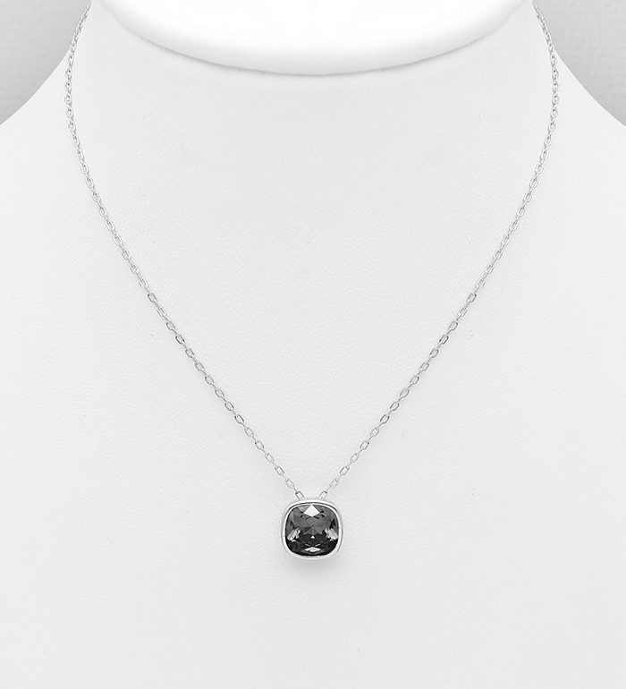 1583-339 - Sparkle by 7K - 925 Sterling Silver Necklace Decorated with Authentic Swarovski<sup>®</sup> Crystal
