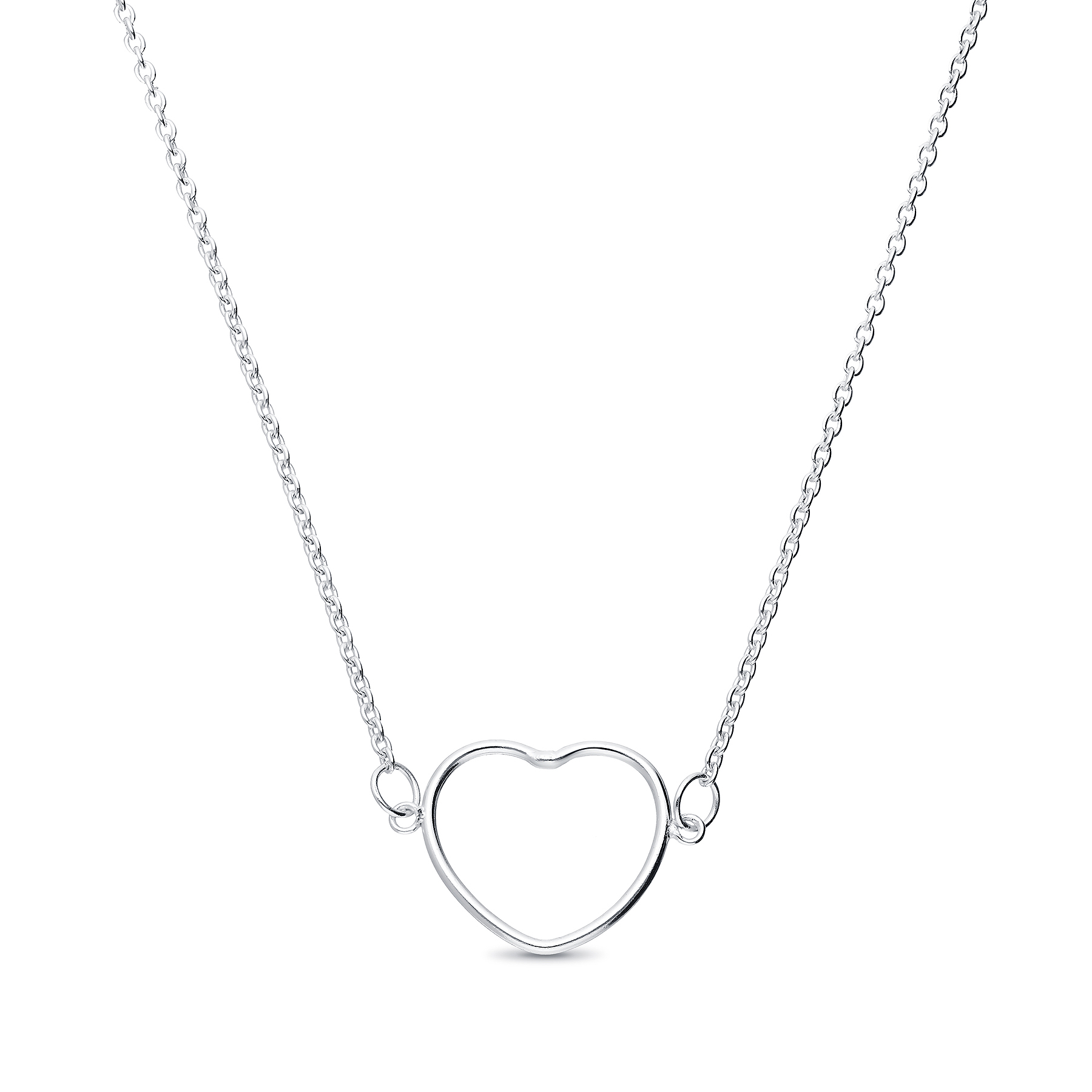 706-26198 - 925 Sterling Silver Heart Choker Necklace