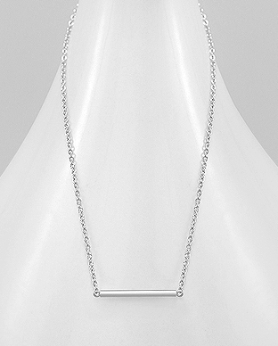 706-26285 - 925 Sterling Silver Bar Necklace