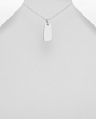 706-26315 - 925 Sterling Silver Tag Pendant