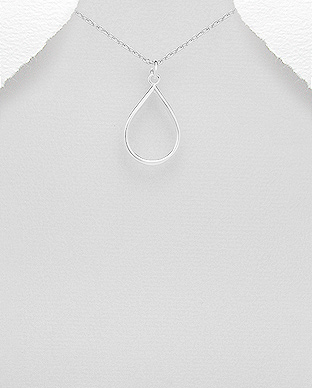 706-26358 - 925 Sterling Silver Drop Pendant
