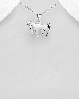 706-26837 - 925 Sterling Silver Horse Pendant
