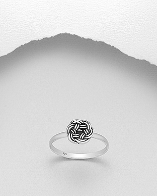706-27157 - 925 Sterling Silver Celtic Weave Ring